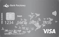 Bank Pocztowy Karta Visa debetowa business
