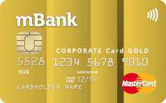 mbank mastercard corporate gold paypass