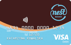Karta debetowa Visa do Nest Konta