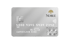 Karta Bankowości Osobistej Noble MASTERCARD PLATINUM CREDIT