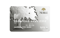 Karta Bankowości Osobistej Noble VISA PLATINUM DEBIT