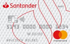 Karta SANTADER DEBIT white Mastercard