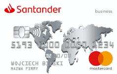 Karta SANTADER biala Mastercard Business