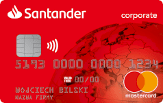 karta SANTANDER CORPORATE Red Mastercard