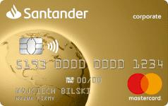 Karta SANTADER CORPO gold Mastercard
