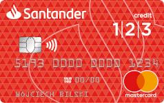 Karta SANTADER CREDIT 123 Mastercard