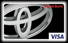 Toyota Bank black pearl credit