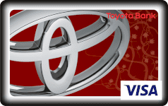 Toyota Bank ruby passion debit