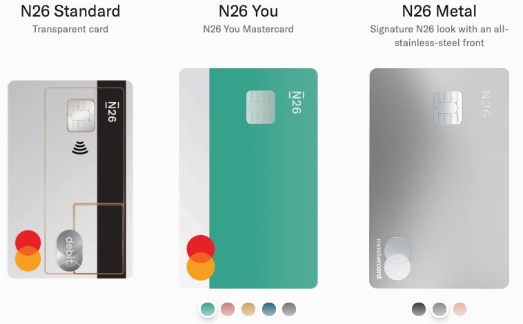 N26: Wybór karty - Standard, You, Metal