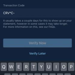 Zakładanie konta Curve: Przepisywanie kodu