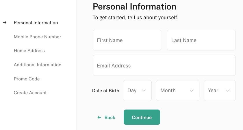 N26: Dane osobowe - imię, nazwisko, e-mail, data urodzenia