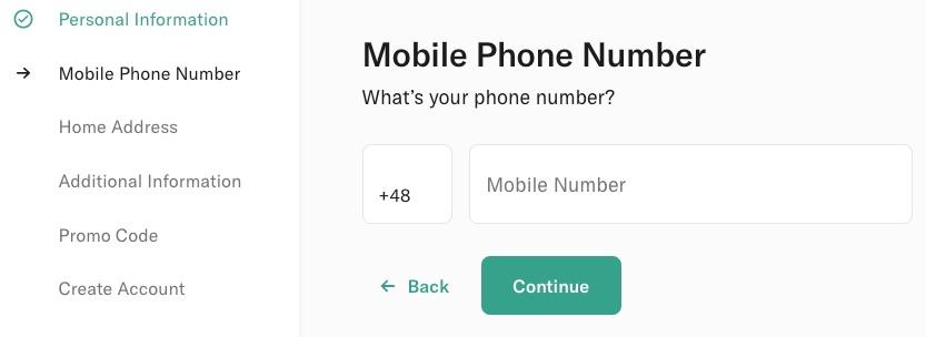N26: Numer telefonu