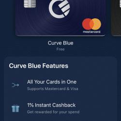 Zakładanie konta Curve: Wybór karty - Karta Curve Blue