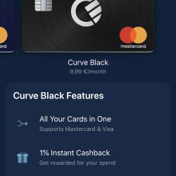 Zakładanie konta Curve: Wybór karty - Karta Curve Black