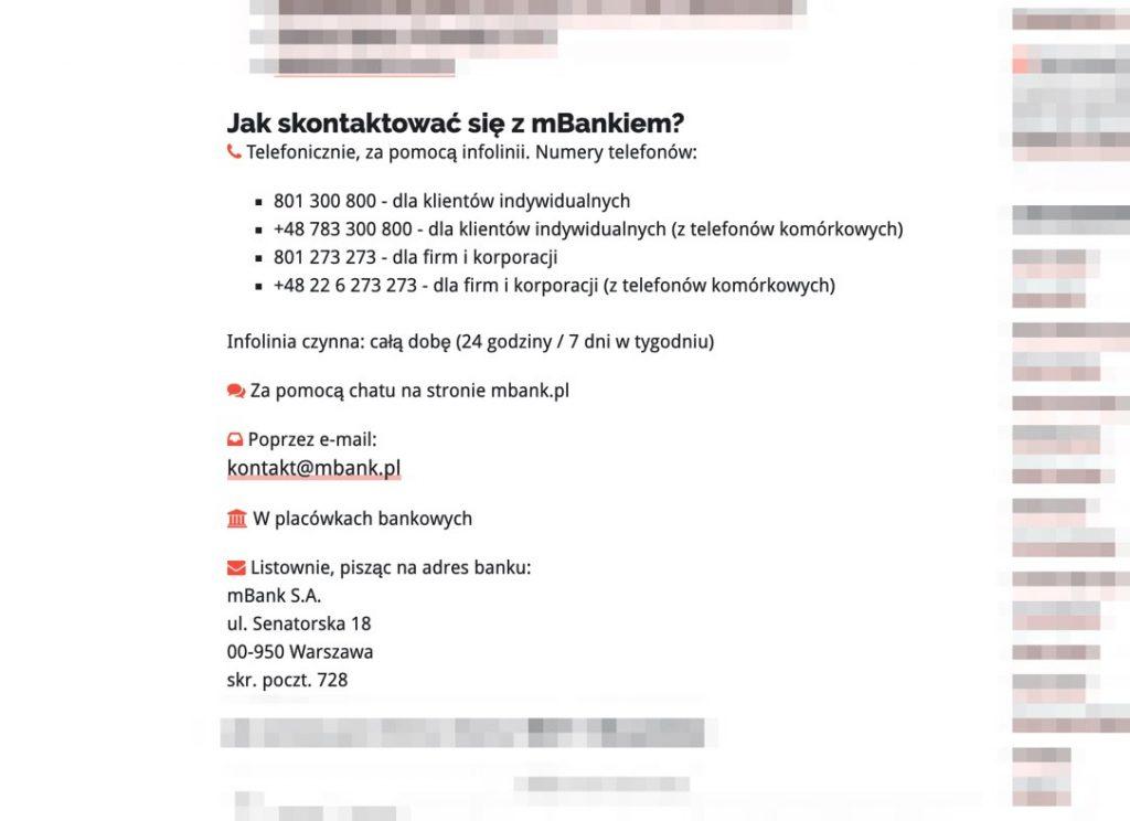 Bankowy Informator: Kontakt z bankiem