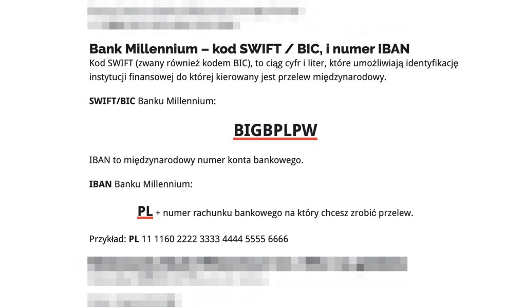 Bankowy Informator: SWIFT / BIC i IBAN