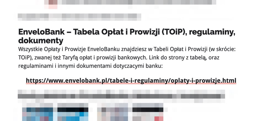 Bankowy Informator: TOiP