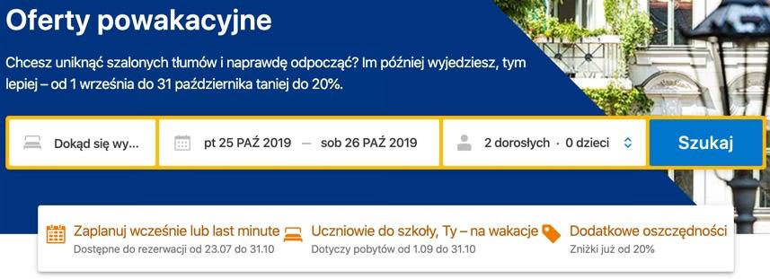 Booking.com - Oferty powakacyjne