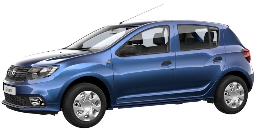 Samochód pod najtańsze OC: Dacia Sandero z silnikiem benzynowym 998 cm3 w kolorze Niebieski Azurite