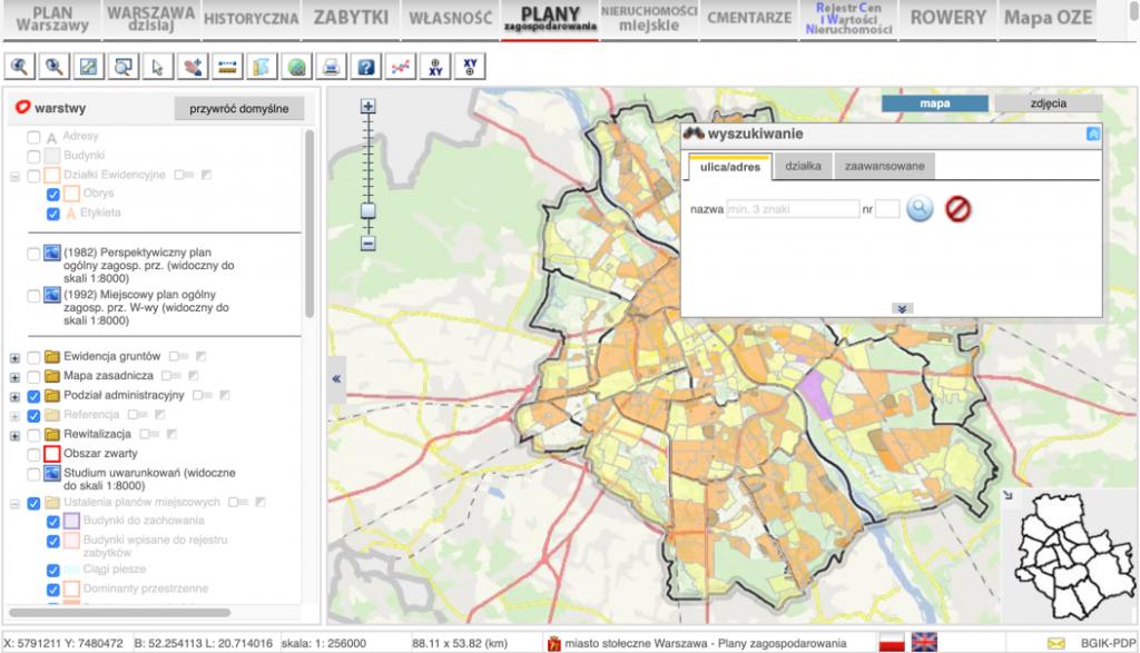 Miejscowy plan zagospodarowania przestrzennego dla Warszawy