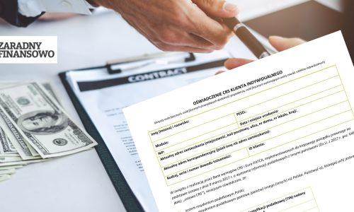 CRS - Oświadczenie o rezydencji podatkowej
