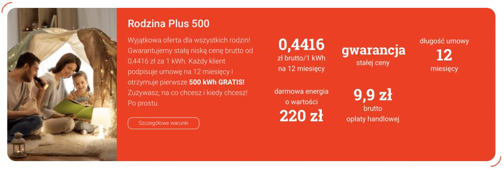Po Prostu Energia: Rodzina Plus 500